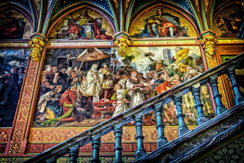 gallery, art, mural