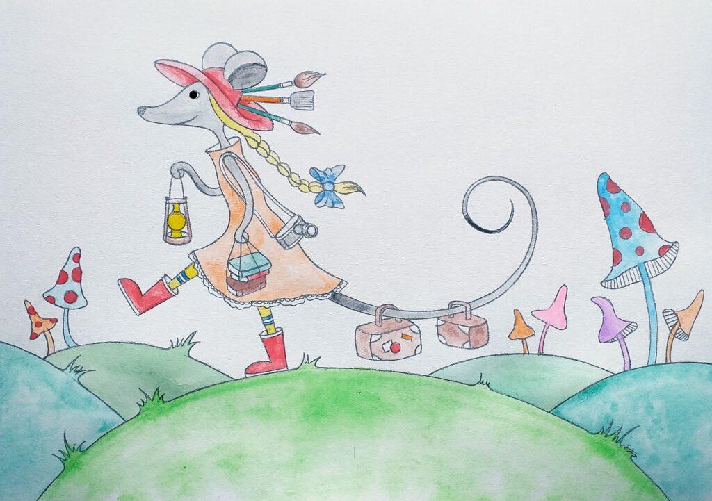 mouse, creativity, figure